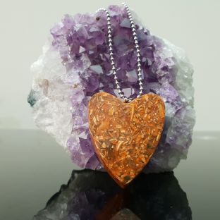 Love Heart Orgone 5G/EMF &  Ascension Pendant 432 Hz